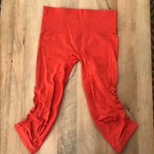 Lululemon In The Flow Crop Legging Red